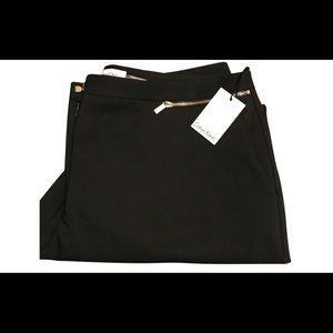 Calvin Klein Detail Zipper Straight Leg Pants